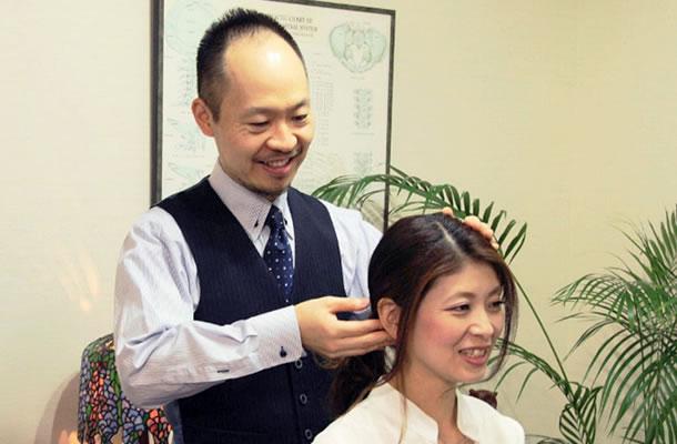 上部頸椎を整えて自律神経のバランスを向上させる施術です